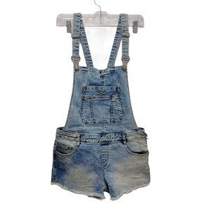 Zara Acid Wash Jean Shortalls Size M